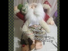 Papá Noel Enguayabado - YouTube Primitive Doll Patterns, Gnome, Christmas Decorations, Crochet Hats, Make It Yourself, Xmas Ideas, Empanadas, Instagram, Youtube