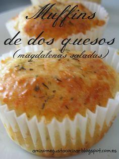 "ME GUSTA... blog (""A mí no me gusta cocinar""): Muffins de dos quesos (magdalenas saladas)"