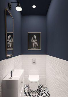 93 Cool Black And White Bathroom Design Ideas oneonroom - Wohnkultur // Badezimmer im Erdgeschoss - Bathroom Decor House Bathroom, Bathroom Inspiration, White Bathroom Designs, Bathroom Interior, Bathrooms Remodel, Bathroom Decor, Interior, Bathroom Design, Small Bathroom Remodel