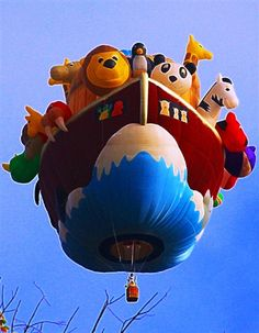 Luchtballonnen kleuren de lucht - De meest originele luchtballonnen: om bij weg te dromen! - MSN Reizen