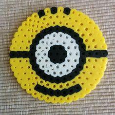 Minion coaster hama beads by  eightbitbeads