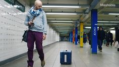 We previously featured smart collapsible luggage and luggage that you can track with your smartphone. NUA Robotics is working on a carry-on. Innovative Products, Follow You, Suitcase, Hands, Puppies, Birthday, Free, Design, Fashion