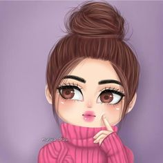 Image in ﮼رسم 🎨💜 collection by 𓆩 🖤 رانيـآ 𓆪 on We Heart It Cartoon Girl Images, Cute Cartoon Pictures, Cute Cartoon Girl, Cute Love Cartoons, Girly Pictures, Cartoon Art, Girly M, Beautiful Girl Drawing, Cute Girl Drawing