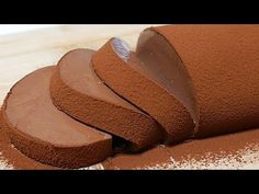 How to make chocolate mousse cake【simple recipe】なめらかチョコレートムースケーキ【簡単♪ゼラチン. Easy Chocolate Desserts, Chocolate Mousse Cake, How To Make Chocolate, Chocolate Recipes, Homemade Desserts, Chocolate Pudding, Sweets Recipes, Cake Recipes, Quick Recipes
