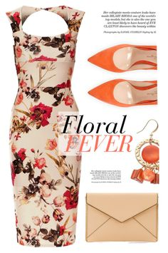 """""""Floral Fever"""" by luvsassyselfie ❤ liked on Polyvore featuring Gianvito Rossi, Rebecca Minkoff and orange"""