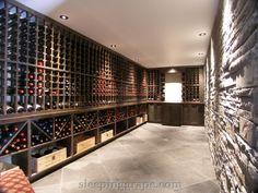 23 foot long, subterranean wine cellar