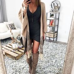 Oversized Poncho With Boots