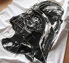 Vader linocut by Oskar Jamrozek https://www.facebook.com/RDESTBYLINA