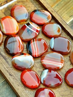 Banded Carnelian Palm Stones