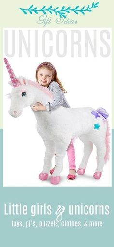 My daughter loves unicorns. Everything about them ~ and her love of them started when she was very little. Love these gift ideas ~ for all ages of girls, from baby to preteen. Toys to clothes and boots. Stuffed animals and games. All about the unicorn. #giftsforgirls #preteen #unicorns #toys #childrenstoys #stuffedanimals #christmasgifts #affiliatelink