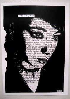 This is a black and white print of a John Clark original. The image is five by seven, with a slight border for matting. Book Art, Book Page Art, High School Art, Middle School Art, Erasure Poetry, Poetry Text, Poetry Quotes, Quotes Quotes, Found Poetry