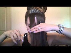 como hacer un fleco postizo con extensiones - YouTube