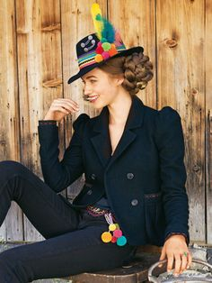 burda style, Schnittmuster - Jacke im Janker-Stil mit Hornköpfen. Tracht