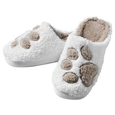 Paw Print Slippers - I Sleep With Dogs -- You can find out more details at the link of the image.