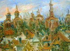 Jovanka Bekan - ulje na platnu - Krovovi i tornjevi Sr Karlovaca  ---  E-mail Jovanke Bekan: jovanka.bekan@gmail.com