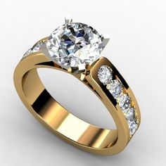 1.45 CT DIAMOND PROMISE SOLITIARE ENGAGEMENT RINGS 14k YELLOW GOLD