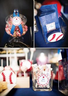 Check out this sporty boy baseball baby shower theme that is festive and creative.