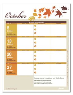 A Catechist's Calendar: October Lesson Preparation Planner  #CatholicEdchat #Catholic