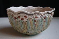 Bukran Unique Arts and Crafts Bowl 7 Birthday by bukranceramics on Etsy, $110.00
