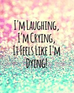 I'm laughing, I'm crying, it feels like I'm dying. ~ Melanie Martinez - Pity Party ♫