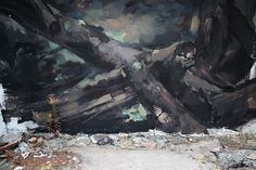 "EMILIO CEREZO  ' ""Introspección'  ..  [Mongat, Spain 2016] (close up 1) Urban Art, Up, Street Art, Spanish, World, Painting, Cherry Tree, City Art, Painting Art"