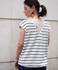 6b7e44324d5 【ZOZOTOWN】PICCIN(ピッチン)のTシャツ/カットソー「バックレースフレンチ