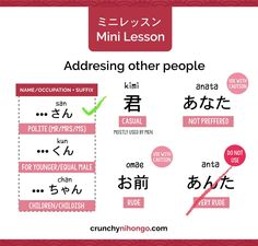 ミニレッスン : Addressing Other People