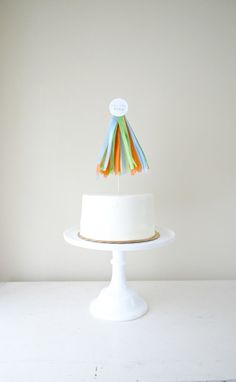 Custom Tassel Cake Topper by PotterandButler on Etsy
