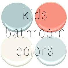 BENJAMIN MOORE: GOSSAMER BLUE, CORAL GABLES, OCEAN AIR, MOUNTAIN PEAK WHITE: Gossamer blue for boys bathroom with a burnt orange color
