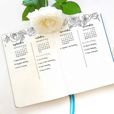 • Future log for 2017 done! • Sorry for the lack of posts lately, I have been kept busy (in the best way) packing and sending out orders! Leuchtturm1917 notebooks have been flying out the doors, so hello to everyone starting their new Bullet Journals!  Also, do white roses remind anyone else of President Snow?