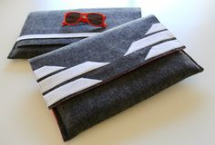 Sew these modern felt laptop sleeves in under an hour. Tutorial for mens and ladies laptop covers.