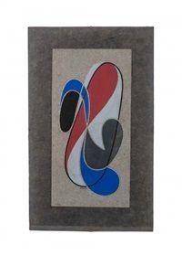 Date unknown - Domela, César - Composition en rouge, bleu et noir