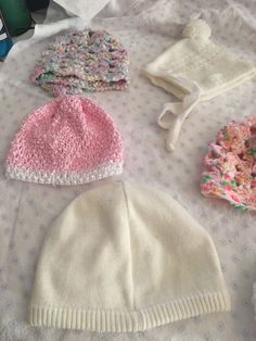 BabyPrem Baby Clothes Baby Girls Pink Knitted Hat with Pom Pom /& Ties Newborn-3m