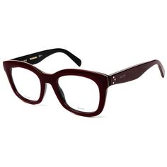 Women's Burgundy Glasses (24975 RSD) ❤ liked on Polyvore featuring accessories, eyewear, eyeglasses and burgundy glasses