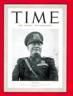 Italy's Benito Mussolini