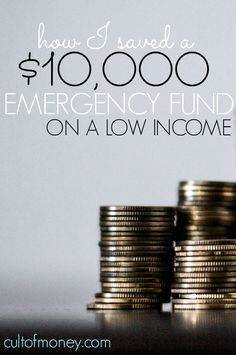No matter how much money you make it is possible to still save. Here's a real life example of how to save emergency fund on a low income.