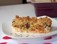 Crumble legumes poulet Une recette secrète   Crumble salé légumes et poulet   http://www.fashioncooking.fr/2013/06/crumble-sale-legumes-poulet/