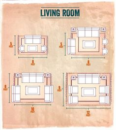 choosing the right size area rug for your living room - Living Room Rug Placement