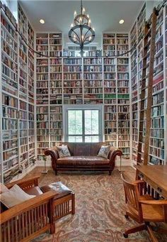 imagine trying to find a book! I like the ladder :-)