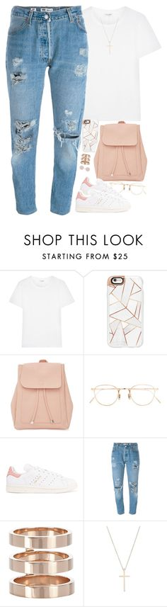 """"""""""" by daisym0nste ❤ liked on Polyvore featuring Yves Saint Laurent, Casetify, New Look, Eyevan 7285, adidas Originals, Levi's, Repossi, Tiffany & Co. and Michael Kors"""