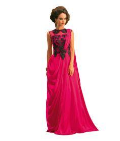 Aramani Fashion Pink Net Gowns