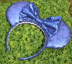 Night Sky Navy Sequin Minnie Ears