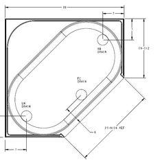 Corner bathtubs dimensions corner bathtub dimensions for Standard size of bathtub