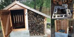 How to Build a Smokehouse — by 'goodshomedesign'. Before you start building a smokehouse, you should read the information on Build A Smoker, Diy Smoker, Homemade Smoker, Food Smoker, Smoke House Plans, Smoke House Diy, Smokehouse, Outdoor Cooking, Outdoor Projects