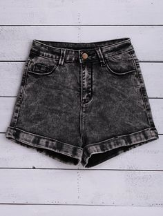 SHARE & Get it FREE | Snow Wash Denim Shorts - BlackFor Fashion Lovers only:80,000+ Items • New Arrivals Daily Join Zaful: Get YOUR $50 NOW!