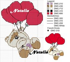 Cross Stitching, Cross Stitch Embroidery, Embroidery Patterns, Fizzy Moon, Moon Bear, Cross Stitch Heart, Coloring Pages, Snoopy, Album