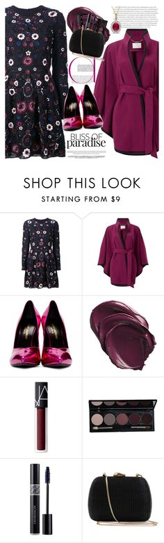 """""""Party On: Long Sleeve Dresses"""" by martinabb ❤ liked on Polyvore featuring Needle & Thread, Jacques Vert, Yves Saint Laurent, NARS Cosmetics, Christian Dior, Envi: and Serpui"""