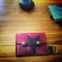 Handmade leather wallet by The Naked Alien