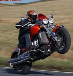 2007 Triumph Rocket III - how much skill does it take to wheelie an 800-lb plus bike?