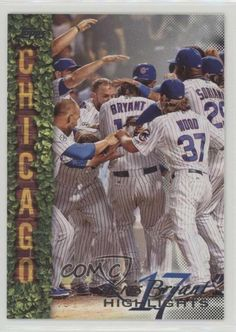 2018 Topps Wal-Mart Highlights Black #KB-15 Kris Bryant Chicago Cubs Card #ChicagoCubs Bryant Wood, Cubs Cards, Baseball Series, Chicago Cubs Baseball, Babe Ruth, Highlights, Walmart, Baseball Cards, Black